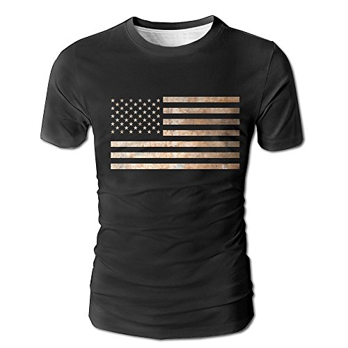 ican Stars and Stripes Vector Clearance Men's Summer Fashion Short-Sleeve Crewneck T-Shirt Pullover ()