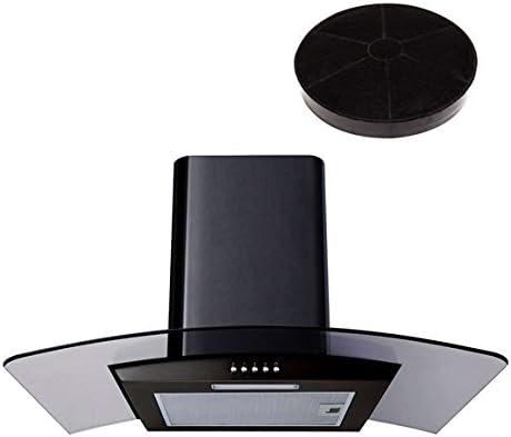Campana extractora de cocina SIA CPL61BL de 60 cm, cristal negro, diseño curvado, con filtro de recirculación adicional: Amazon.es: Grandes electrodomésticos