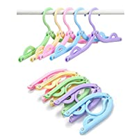 Youfui Portable Folding Clothes Hangers Travel Accessories Foldable Clothes Drying Racks for Travel Home Storage