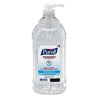 amazon com purell advanced hand sanitizer refreshing gel 2 liter