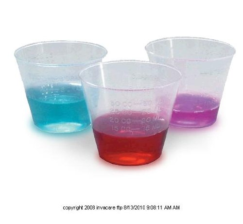 Calibrated Plastic Medicine Cup, Medicine Cup 10Z Disp, (1 PACK, 100 EACH)