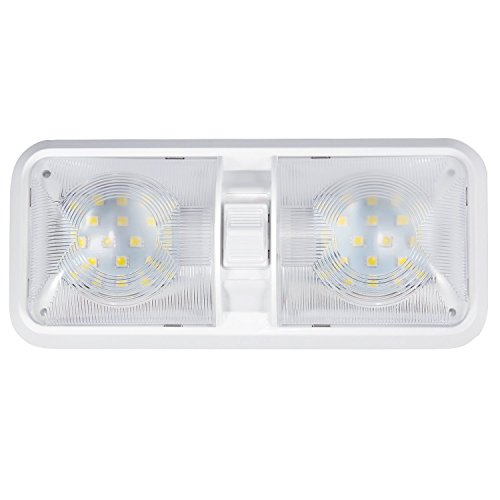 Kohree Rv Led Ceiling Double Dome Light Fixture With On Off Switch Interior Lighting For Car Rv