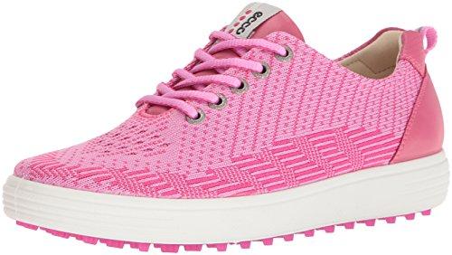- ECCO Women's Casual Hybrid Knit Golf Shoe, Pink/Beetroot/Fandango, 39 EU/8-8.5 M US