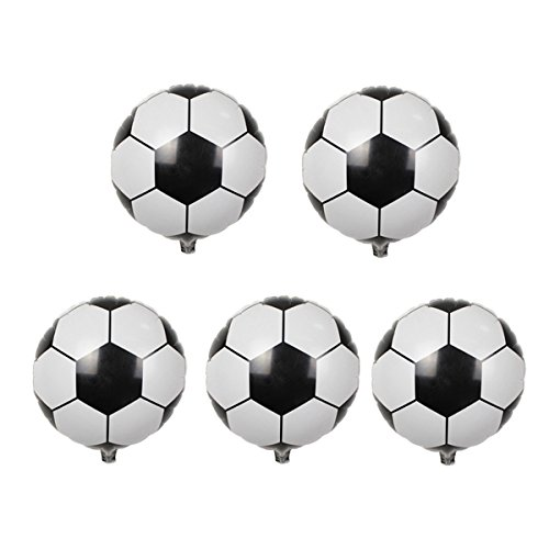 LKXHarleya 5pcs 10inch Mini Soccer Foil Balloon Mylar Football Game Balloons for DIY Birthday Party Home - 10 Football Mini Inch