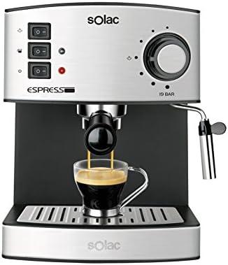Solac CE4480Espresso–Macchina da caffè, capacità 1,25l, 19bar, vaporizzatore