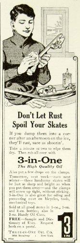 1923 Ad Three-In-One Oil 165 Broadway NYC Ice Skate Sporting Goods Children Boys - Original Print - Kids Broadway Free