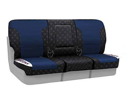 Coverking Custom Fit Front 40/20/40 NCAA Licensed Seat Cover for Select Nissan Titan Models - Neosupreme (University of Connecticut) by Coverking