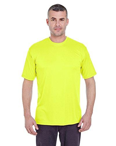 Yellow Bright T-shirt (UltraClub Men's Cool & Dry Basic Performance T-Shirt XL BRIGHT YELLOW)