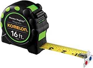 Komelon 7116 Monster MagGrip 16-Foot Measuring Tape with Magnetic End