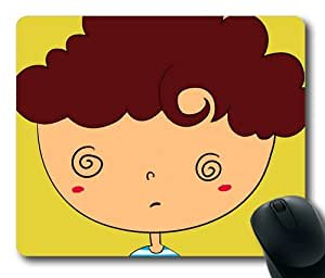 Original Designed Creative Picture Cartoon Cute Boy Theme For Mouse Pad by ruishername