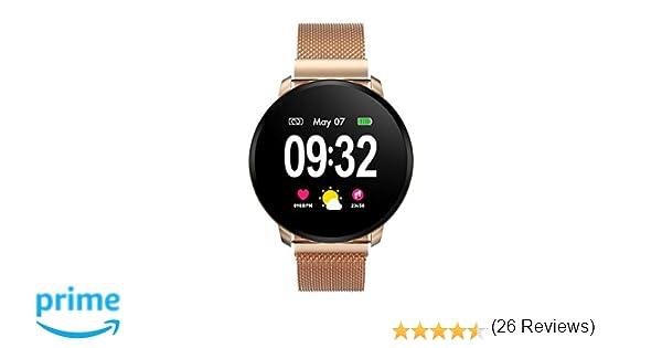 Smartwatch Fashion para Hombre Mujer Reloj Inteligente con Pantalla Completa Táctil Monitores de Actividad IP67 Fitness Tracker con Monitor de Sueño ...