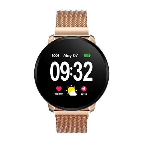 🥇 GOKOO Smartwatch Fashion para Hombre Mujer Impermeable Reloj Inteligente Monitores de Actividad Fitness Tracker con Monitor de Sueño Pulsómetros Podómetro Compatible con iOS Android