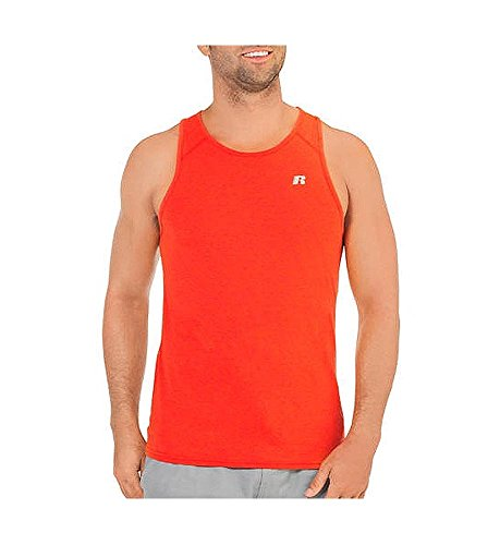 (Russell Athletic Dri-Power 360 Men's Performance Tank Top, Volcano Red, Large)