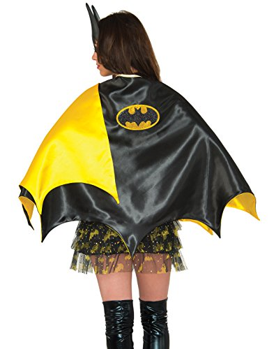 Batgirl Costumes For Adults (Rubie's Women's Dc Comics Batgirl Deluxe 30-Inch Cape, Black, One Size)