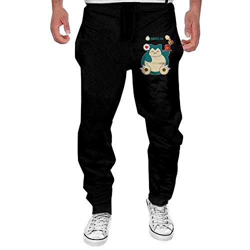 [OL-Pant Men's Hungry Snorlax Running Pants Size XXL] (Snorlax Costume Dress)
