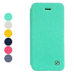 conseguir Textura de la lona de la PU de la caja del cuero de cuerpo completo color sólido para el iphone 5/5s (colores surtidos) , Gris
