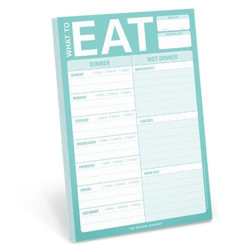 Knock Knock What to Eat Pad (Mint Green) by Knock Knock
