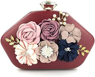 手作りの花のイブニングドレス、ファッションパーティーバッグ、財布、結婚式のディナーバッグ、繊細な縫製、赤 美しいファッション
