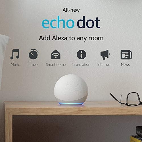 All-new Echo Dot (4th Gen) | Smart speaker with Alexa | Glacier White