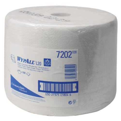 WYPALL* L10 Extra+ Wiper Large Roll 7202 - 1 roll x 1,000 white, 1 ply sheets Kimberly-Clark Professional (EU)