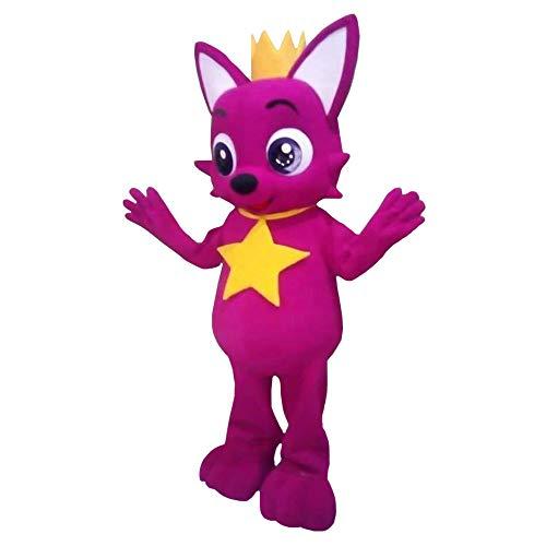 Hot Pink Fox Baby Shark Mascot Costume Costume