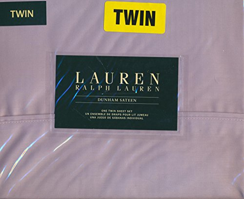 Lauren Ralph Lauren Twin Size Dunham Sateen 100% Cotton 3 Piece Sheet Set - Lilac (Light Purple)