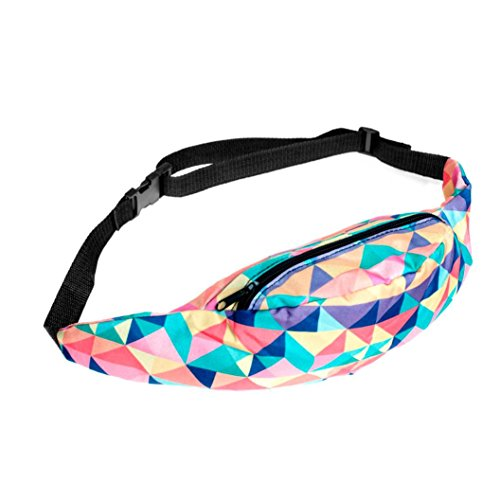 Waist Bag Polyester Closure Belt Black for Men Women - 2