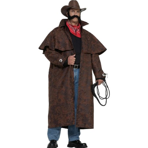Forum Novelties Men's Plus-Size Extra Big Fun Tex Costume Duster Coat, Brown, 3X-Large]()