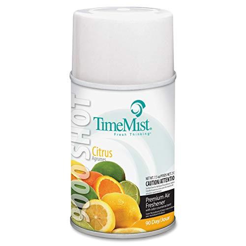 TimeMist 1042649 9000 Shot Metered Air Fresheners, Citrus, 7.5oz Aerosol (Case of ()