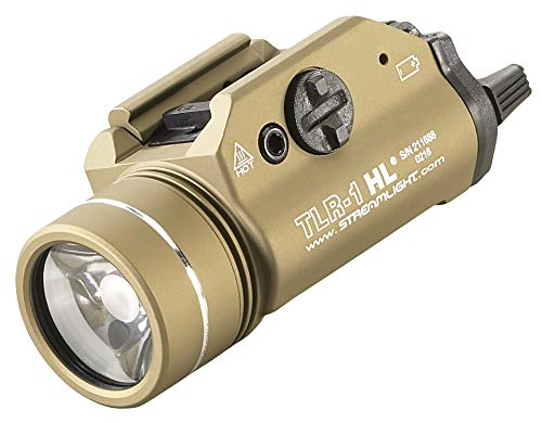 (Streamlight 69266 TLR-1-HL High Lumen Rail-Mounted Tactical Light, Flat Dark Earth - 800 Lumens)