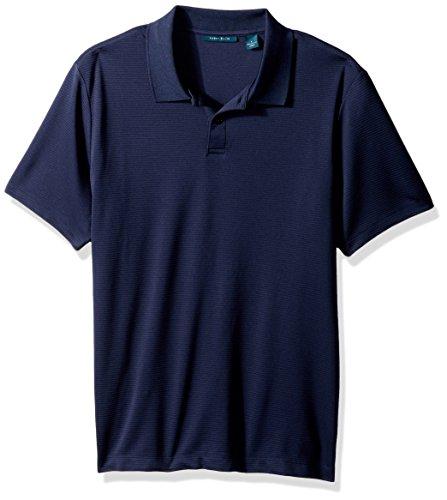 Perry Ellis Men's Two Button Stripe Texture Polo, Dark Sapphire, XX-Large -