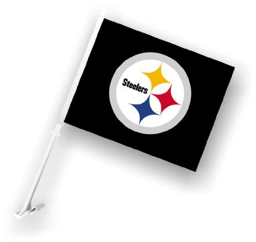 NFL Sports & Fitness Car Flag W/Wall Brackett at Steeler Mania