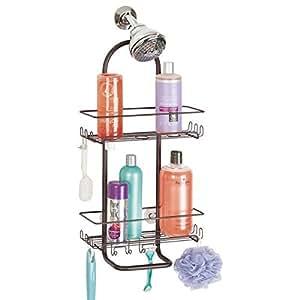 Mdesign estanteria para ducha para colgar sin taladrar for Estanteria bano amazon