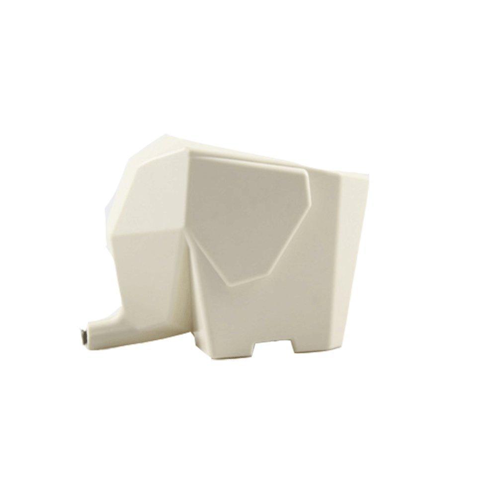 Hilai Kitchen Household Storage Elephant Cutlery Holder Drainer Weiß