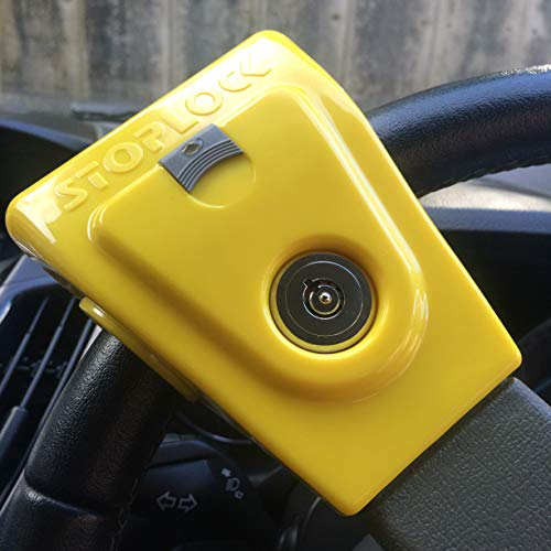 Stoplock HG 134-66 Airbag 4×4 – Steering Wheel Lock for Cars – Secure Anti-Theft Device W/Keys 1 Unit, Yellow/Grey