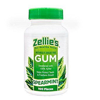(Zellies 851278001035 Spearmint Gum (Pack of 100))