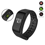 Xiazhi Fitness Tracker,F1 Waterproof Activity Tracker with Heart Rate Blood Pressure Blood Oxygen Monitor,Smart Wristband with Calorie Counter Watch Pedometer Sleep Monitor Bluetooth Bracelet