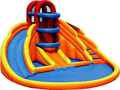 Big Blue Lagoon Inflatable Water Slide
