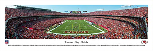 (Kansas City Chiefs - End Zone at Arrowhead Stadium - Panoramic Print )