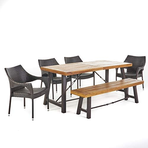Christopher Knight Home Morley Outdoor Acacia Wood Dining Set