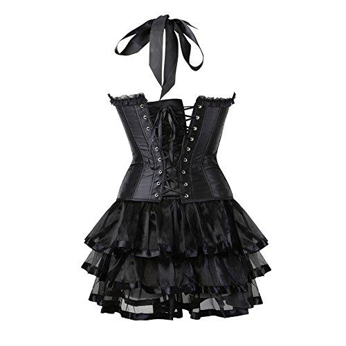 Grebrafan Damen Halloween Party Kleid Neckholder Corsage mit Multi ...