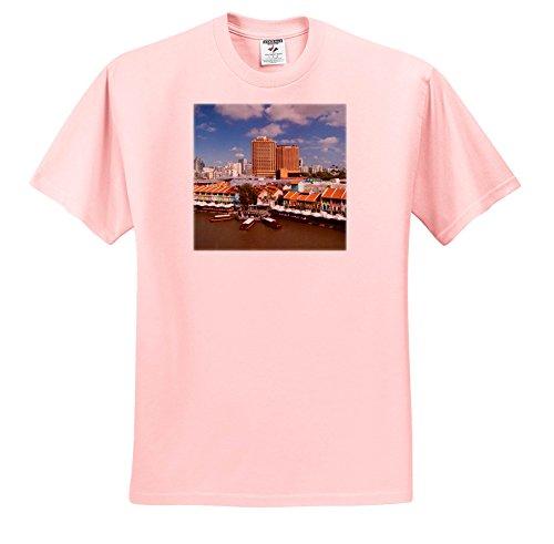 3dRose Danita Delimont - Cities - Singapore, Clarke Quay, Entertainment District, Exterior - T-Shirts - Toddler Light-Pink-T-Shirt (3T) (TS_257280_48)