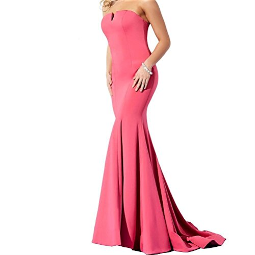 JOVANI COUTURE Women's Strapless Pink Full Length Gown Formal Long Dress Bridal Prom Pageant SZ 8 ()