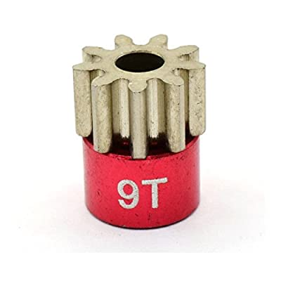 Hot Racing CB209 Red 32 Pitch 9 Tooth Pinion Gear: Toys & Games