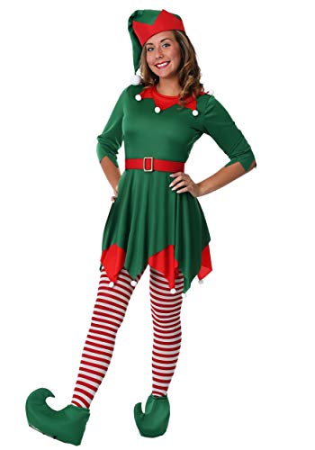 Women's Santa's Helper Costume Large Green]()