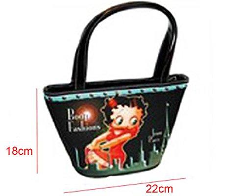 Piccolo Borsa a mano Betty Boop Original–Sacchetto di piccola dimensione per donna e bambini–lunghezza 22x altezza 18cm