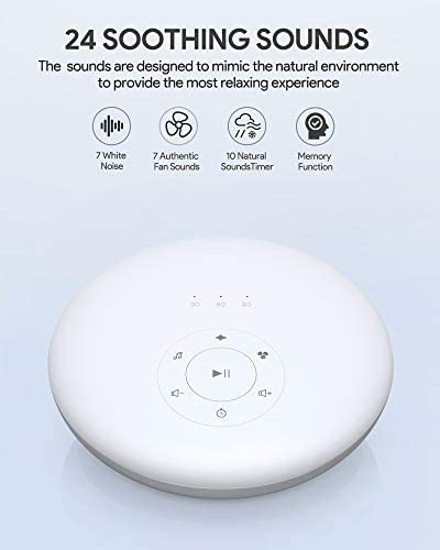 Noise Machine for Sleeping White Noise Machine Memory Function Sleep Machine for Home Nursery Office Techvilla Sleep Sound Machine with Night Light for Baby Kid Adult 24 Soothing Sound
