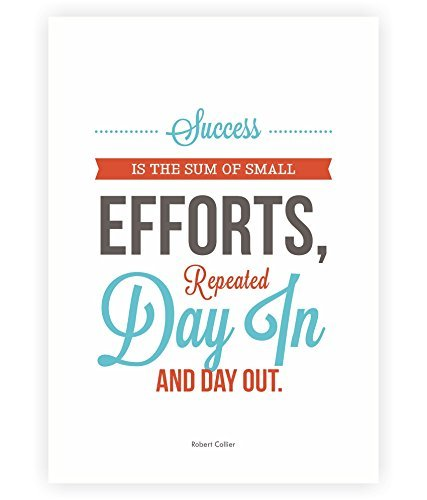 """LAB NO 4 Success is The Sum of Small Efforts Robert Collier Inspirational Quotes Poster in A3 (16.5"""" X 11.7"""")"""