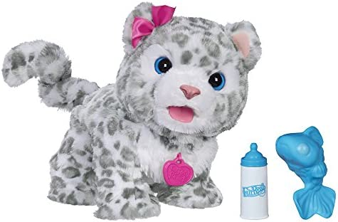 c749988dd0fc Amazon.com: FurReal B2953 Flurry, My Baby Snow Leopard Interactive Plush Toy,  Ages 4 & Up: Toys & Games