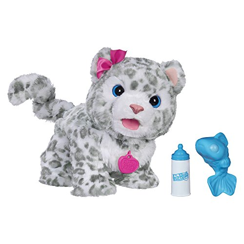 FurReal B2953 Flurry, My Baby Snow Leopard Interactive Plush Toy, Ages 4 & Up
